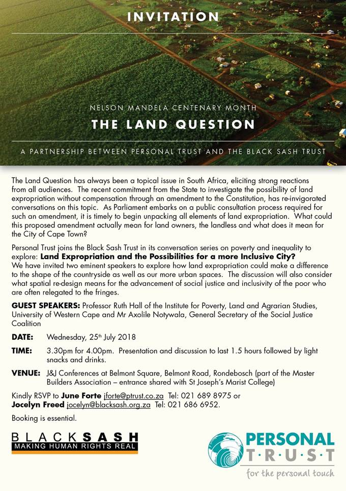 Invitation the Land Question