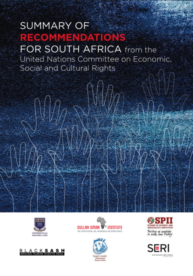 UN Summary of Recommendations for SA cover image
